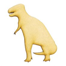 3mm MDF Wood Laser Cut Craft Shapes - Tyrannosaurus